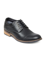 Buckaroo Men Charcoal Black Celio Leather Casual Shoes