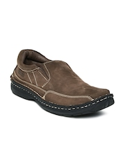 Buckaroo Men Mushroom Brown Leather Casual Shoes