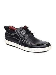Buckaroo Men Dark Blue Leather Casual Shoes
