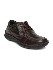 Buckaroo Men Dark Brown Leather Casual Shoes