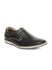 Men Dark Brown New Dani Leather Casual Shoes Buckaroo
