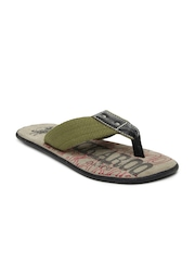 Men Olive Green & Black Sandals Buckaroo