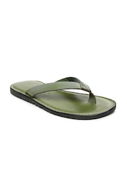 Men Olive Green Sandals Buckaroo