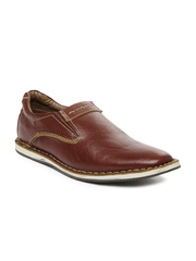 Men Brown New Dani Leather Casual Shoes Buckaroo