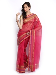 Bunkar Pink Super Net Fashion Saree
