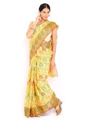 Bunkar Yellow Super Net Traditional Saree