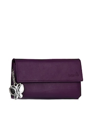Butterflies Women Purple Wallet
