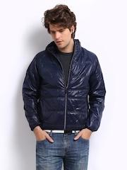 C Vox Men Blue Padded Jacket