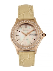 Casio Women Pearly Pink Dial Watch SX104