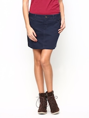 CAT Coral Navy Skirt