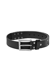 CAT Men Black Leather Dearborn Belt