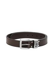 CAT Men Brown Leather Calderwood Belt
