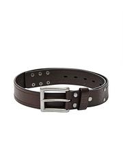 CAT Men Brown Leather Dearborn Belt
