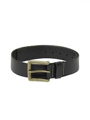 CAT Men Black Leather Bridger Belt