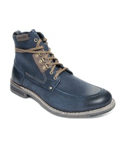 CAT Men Blue Landon Leather Boots