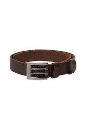 CAT Men Gardner Brown Leather Belt