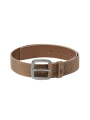 CAT Men Brown Leather Bitterroot Belt