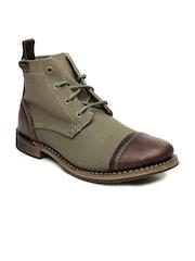 CAT Men Brown Morrison Canvas Boots