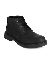 CAT Men Black Graft Boots