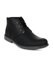Cat Men Black Carsen Mid Casual Shoes