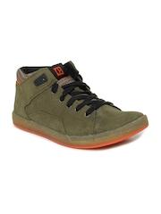 CAT Men Olive Council Mid Casual Shoes
