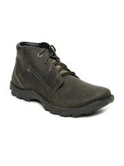 CAT Men Grey Transform Leather Boots