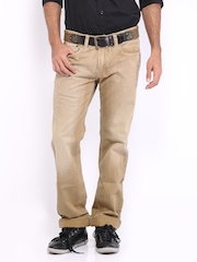 CAT Men Beige Trax Original Fit Jeans