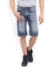 CAT Men Blue Shorts