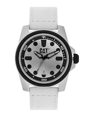 CAT Men Silver-Toned Dial Watch B014130221
