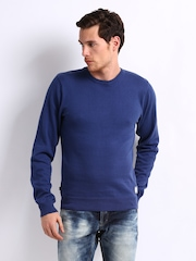 CAT Men Blue Imperial Sweater