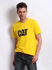 CAT Men Yellow Logo T-shirt