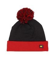 CAT Unisex Black & Red Beanie