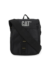 CAT Unisex Black & Grey Rock Tablet Sling Bag