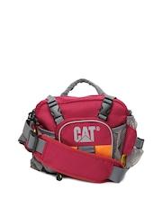 CAT Unisex Maroon Waist Pouch