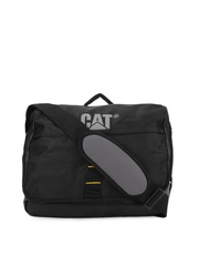 CAT Unisex Black & Grey Zinc Messenger Bag