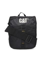 CAT Unisex Black Rock Tablet Messenger Bag