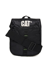 CAT Unisex Black and Green Rock Tablet Messenger Bag