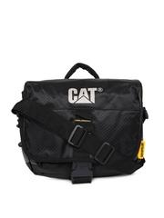 CAT Unisex Black and Grey Iron Messenger Bag