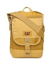 CAT Unisex Mustard Yellow Citizen Tablet Sling Bag