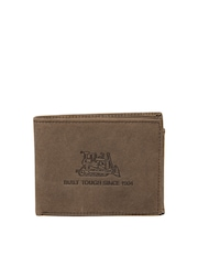 CAT Men Brown Leather Wallet