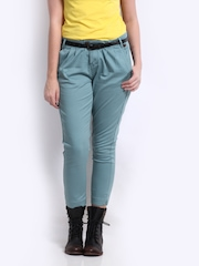 CAT Women Blue Elise Crropped Trousers