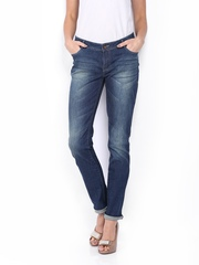CAT Women Blue Skinny Pencil Fit Jeans