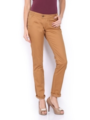 CAT Women Brown Skill Skinny Fit Trousers