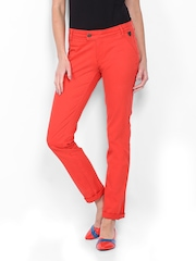 CAT Women Red Skill Skinny Fit Trousers