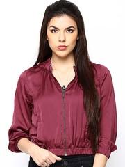 CHM Women Wine-Coloured Jacket