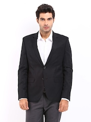 Code Men Black Slim Fit Blazer