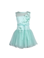 CUTECUMBER Girls Light Green Fit & Flare Dress