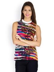Calgari Women Multi-Coloured Printed Top