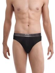 Calvin Klein Innerwear Dual Tone Men Black Hip Briefs U3070D