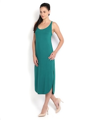 Calvin Klein Jeans Green Racerback Midi Dress